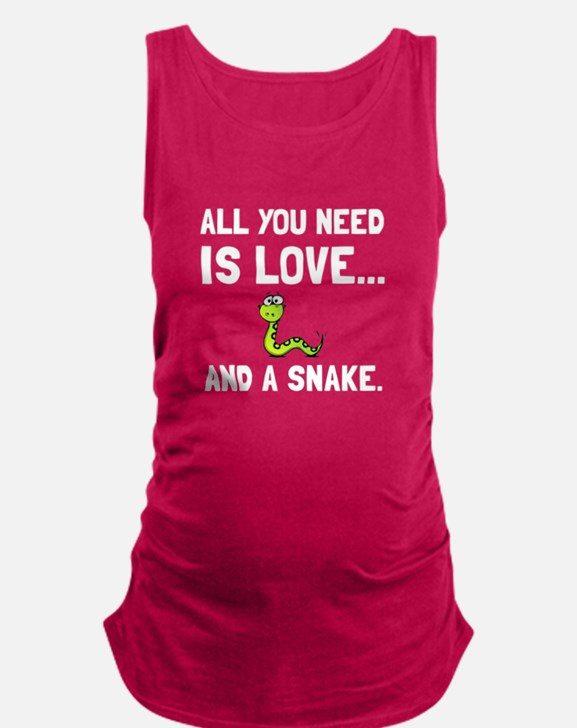 Love And A Snake Maternity Tank Top