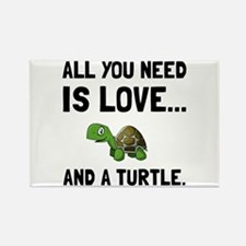 Love And A Turtle Magnets