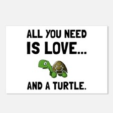 Love And A Turtle Postcards (Package of 8)