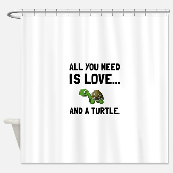 Love And A Turtle Shower Curtain