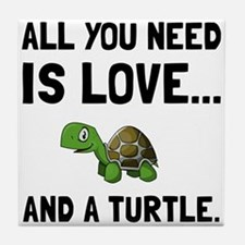 Love And A Turtle Tile Coaster