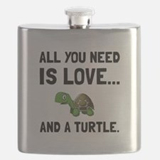 Love And A Turtle Flask