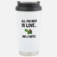 Love And A Turtle Travel Mug