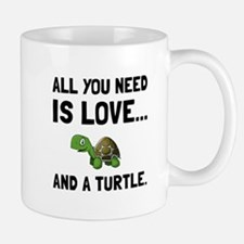 Love And A Turtle Mugs