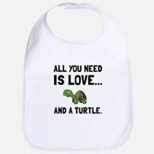 Love And A Turtle Bib