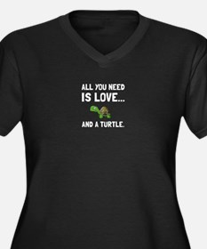 Love And A Turtle Plus Size T-Shirt