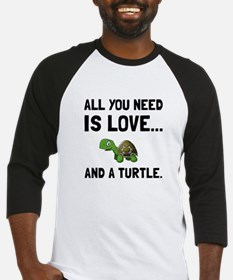 Love And A Turtle Baseball Jersey