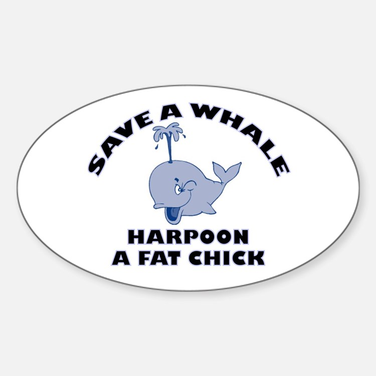 Save a Whale Oval Decal