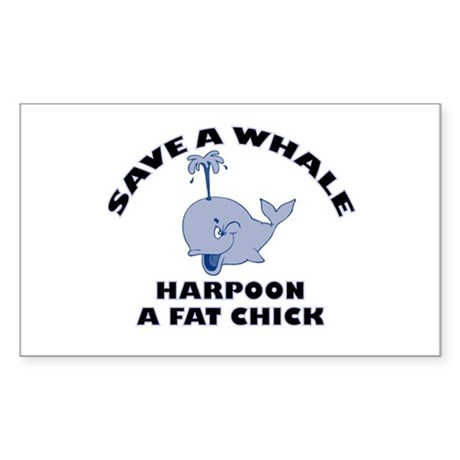 Save a Whale Rectangle Sticker