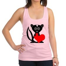 Cute Cartoon Skunk and Heart Racerback Tank Top