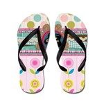 Trendy Girly Custom Embellished Flip Flops