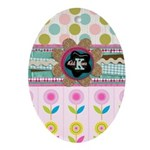 Trendy Girly Custom Embellished Ornament (Oval)