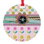 Trendy Girly Custom Embellished Ornament