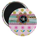 Trendy Girly Custom Embellished Magnets