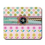 Trendy Girly Custom Embellished Mousepad