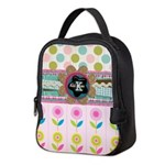 Trendy Girly Custom Embellished Neoprene Lunch Bag