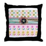 Trendy Girly Custom Embellished Throw Pillow