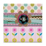 Trendy Girly Custom Embellished Tile Coaster