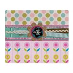 Trendy Girly Custom Embellished Throw Blanket