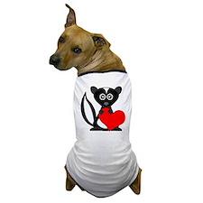 Cute Cartoon Skunk and Heart Dog T-Shirt
