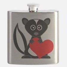 Cute Cartoon Skunk and Heart Flask