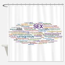sex Word Cloud Shower Curtain