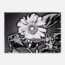 Sunflower at night 5'x7'Area Rug
