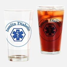 Blue Diabetic Insulin Drinking Glass
