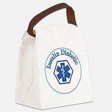 Blue Diabetic Insulin Canvas Lunch Bag