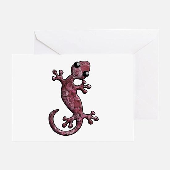 Rose Lizard Greeting Card
