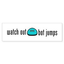 Bot Jumping Bumper Bumper Sticker