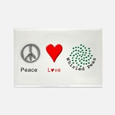Peace Whirled Peas Rectangle Magnet