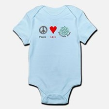Peace Whirled Peas Infant Bodysuit