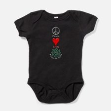Peace Whirled Peas Baby Bodysuit