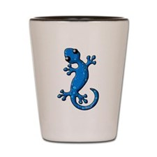 Blue Rain Lizard Shot Glass