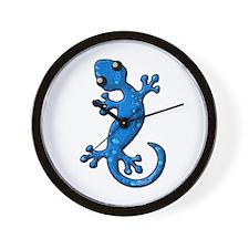 Blue Rain Lizard Wall Clock