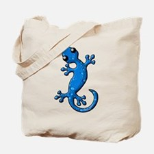 Blue Rain Lizard Tote Bag