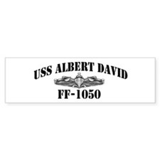 USS ALBERT DAVID Bumper Sticker