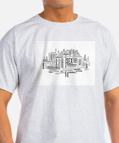 Sex Word Cloud T-Shirt