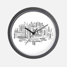Sex Word Cloud Wall Clock