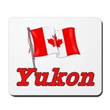 Canada Flag - Yukon Territory Mousepad