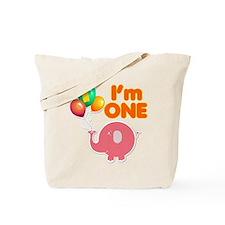 1st Birthday Elephant Tote Bag