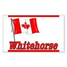 Canada Flag - Whitehorse Rectangle Bumper Stickers