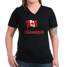 Canada Flag - Yellowknife Text Shirt