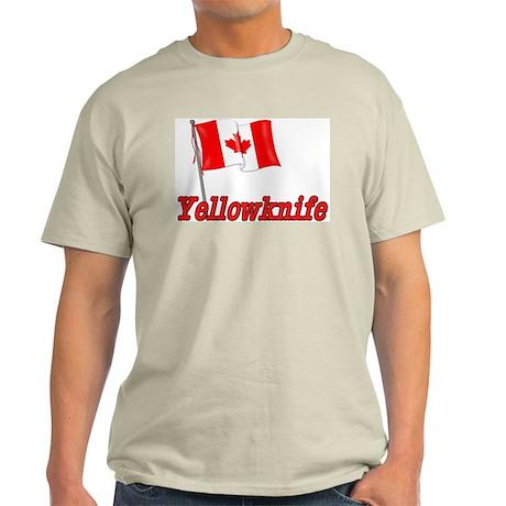 Canada Flag - Yellowknife Text Light T-Shirt