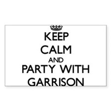 Keep calm and Party with Garrison Decal