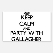 Keep calm and Party with Gallagher Decal
