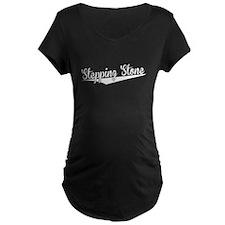 Stepping Stone, Retro, Maternity T-Shirt