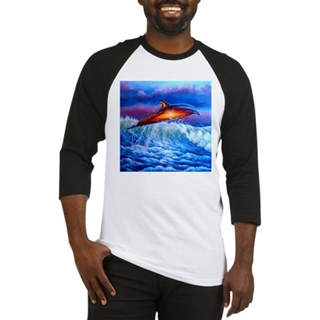 Dolphin Sunset Baseball Jersey