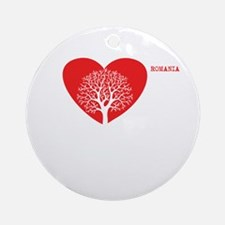 Heart and Tree Ornament (Round)